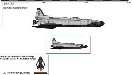 Combat Spacecraft. Low Orbit. by AnowiShipyards