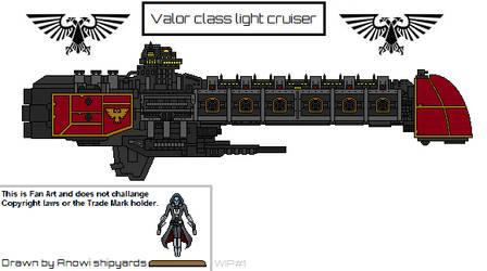 Valor Class Light Cruiser by AnowiShipyards