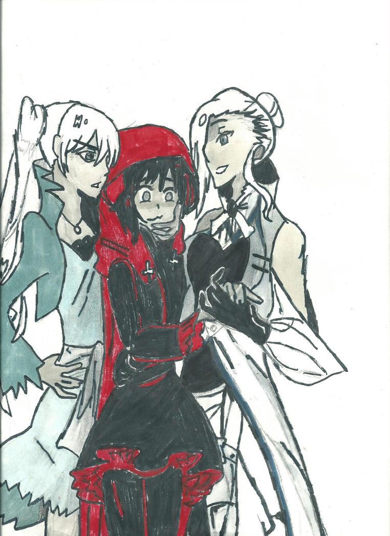 Weiss, Winter, and Little Red by zeldafan03