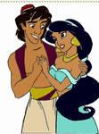 Aladdin and Jasmine by bubba-courtlz