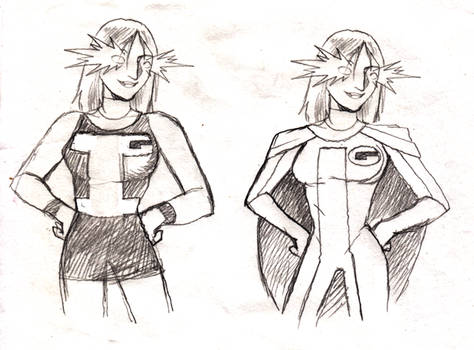 Incredi-Gal sketches