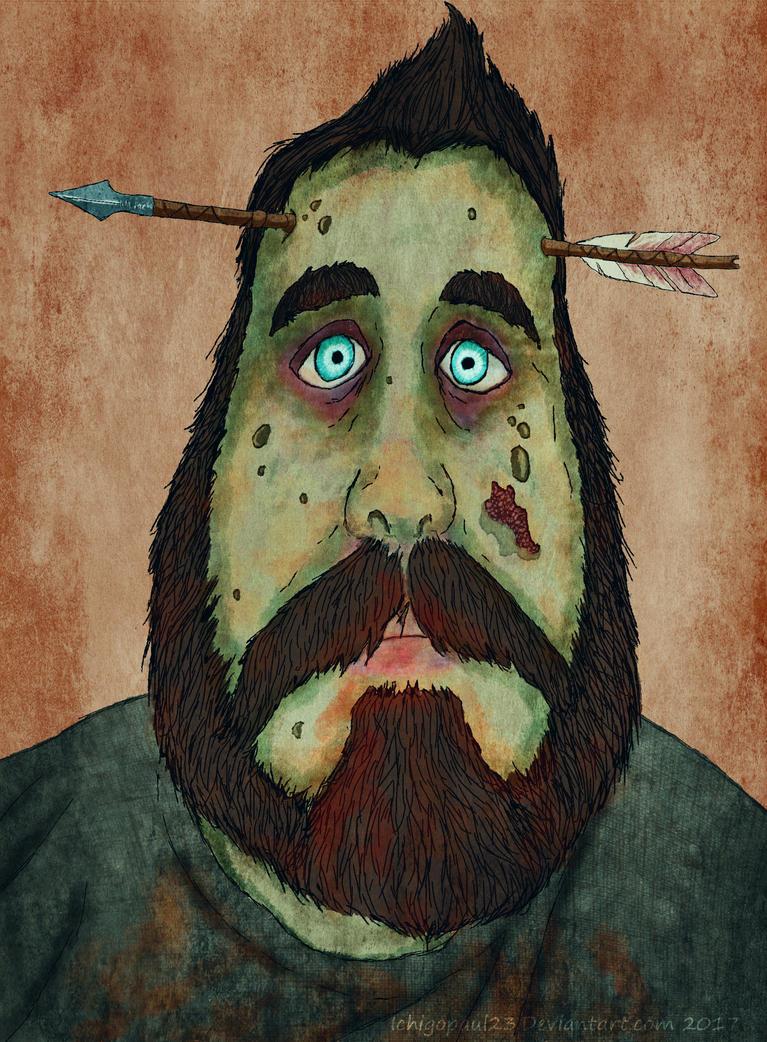 Zombie Portrait by ichigopaul23