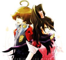 Yumihiko and Mikumo by soak1111