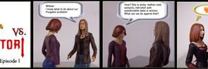 Willow and Tara vs. Purgatori by WebWarlock