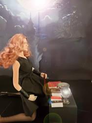 Larina prepares her altar, Part 2 by WebWarlock