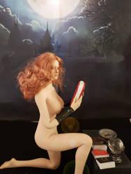 Larina at her Samhain ritual by WebWarlock
