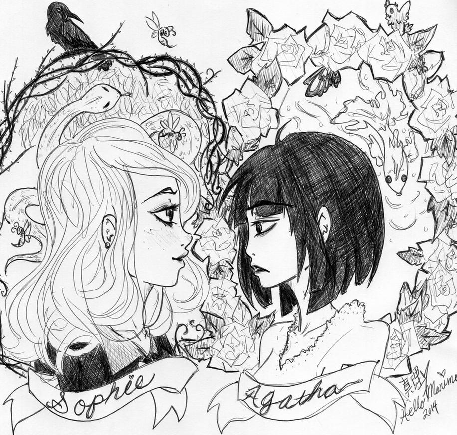 The School for Good and Evil: Sophie and Agatha by hellomarimon