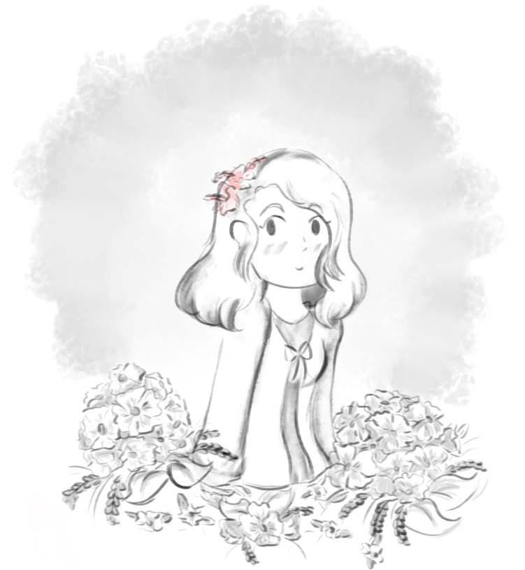 In the flowers by amykinomoto