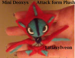 Mini Deoxys Attack Form Plushie! pic