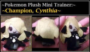 Pokemon Champion Cynthia Pokemon plush mini traine