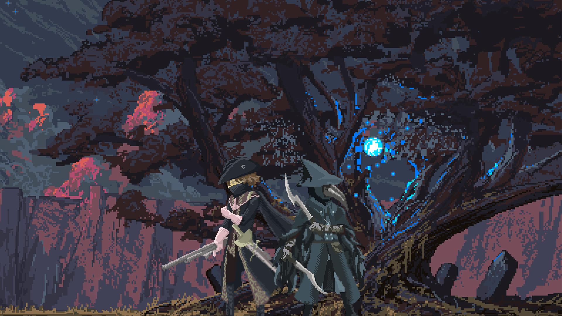 Pixel Bloodborne Hunter And Eileen By Janswer On Deviantart