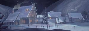 Winter Village by ErikTaberman