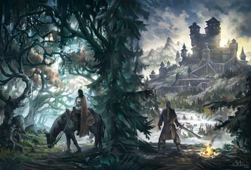 Fantasy Book Cover Illustration