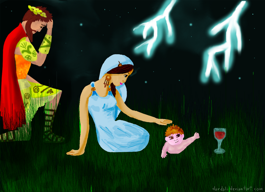 Semele and baby Dionysus Picture, Semele and baby Dionysus ...