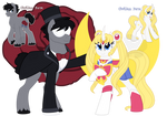 Senshi Ponies-Mariner Serena Moon/Ensemble Shroud