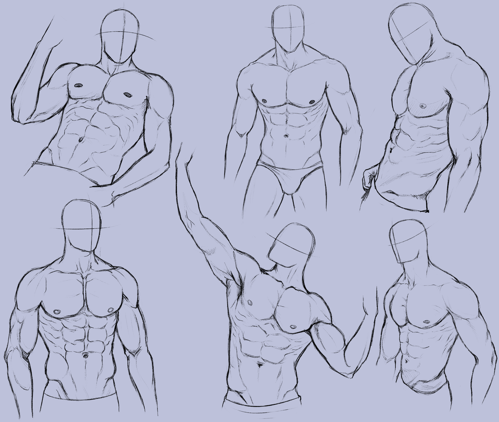 man body drawing - HD1024×866