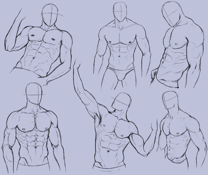 Man Anatomy Practice 2 by KingMaria