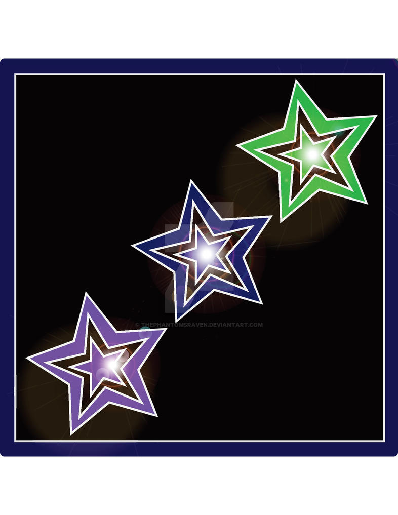 Trio Stars by ThePhantomsRaven