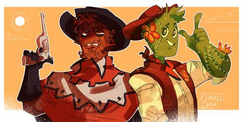 Tumbleweed Russel and Sheriff Clint (SPEEDPAINT)