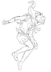 A Space for my Heart - Prince ascending (pencils)