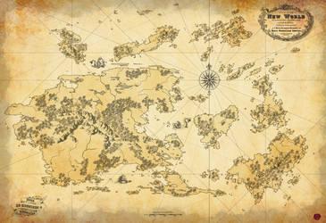 A Map of Aramar (sans cities) by KenjisArtDump
