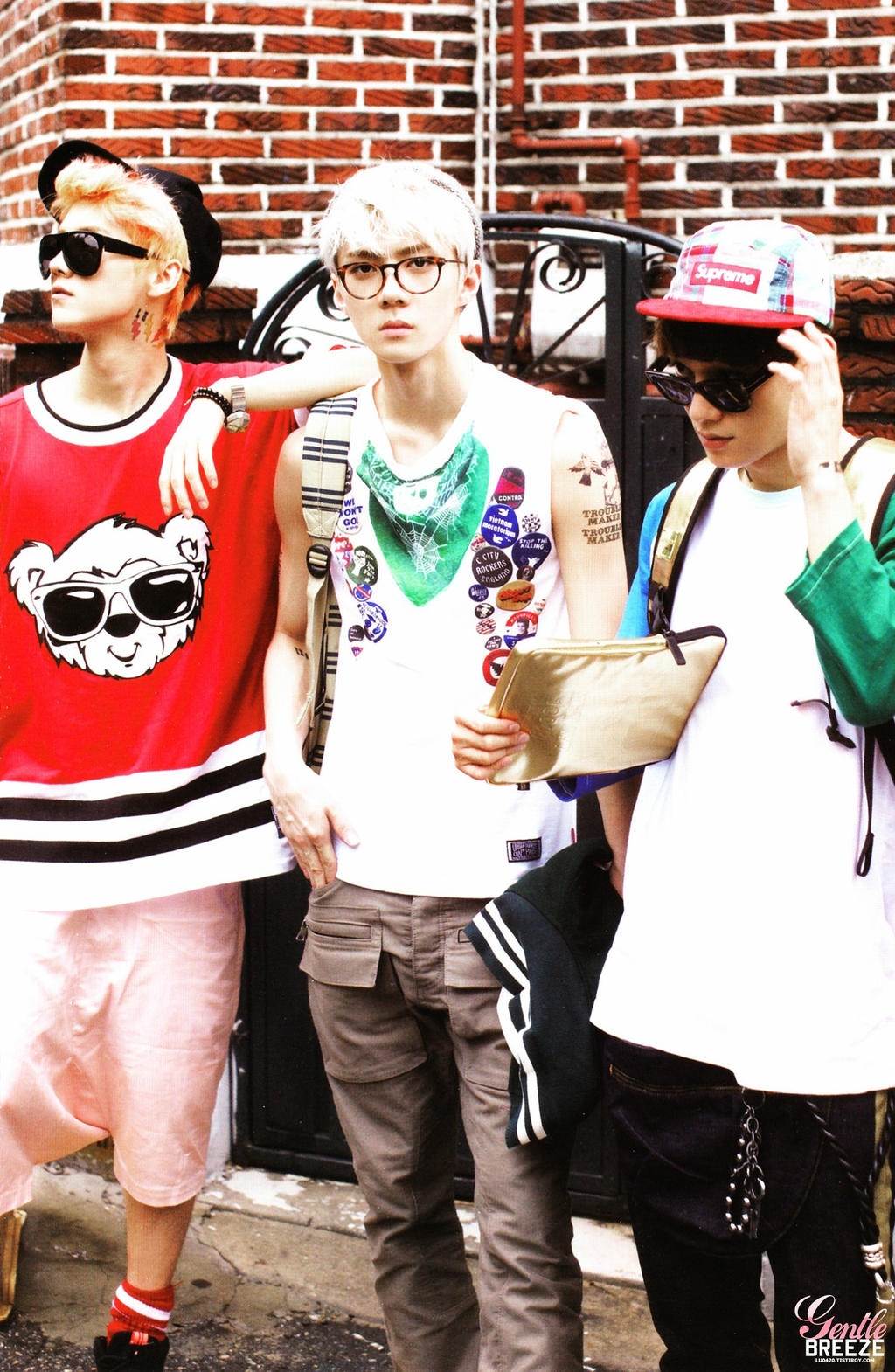 Exo - Luhan  Sehun and Chen pic  Growl  by its-paulinaExo Sehun And Luhan Growl