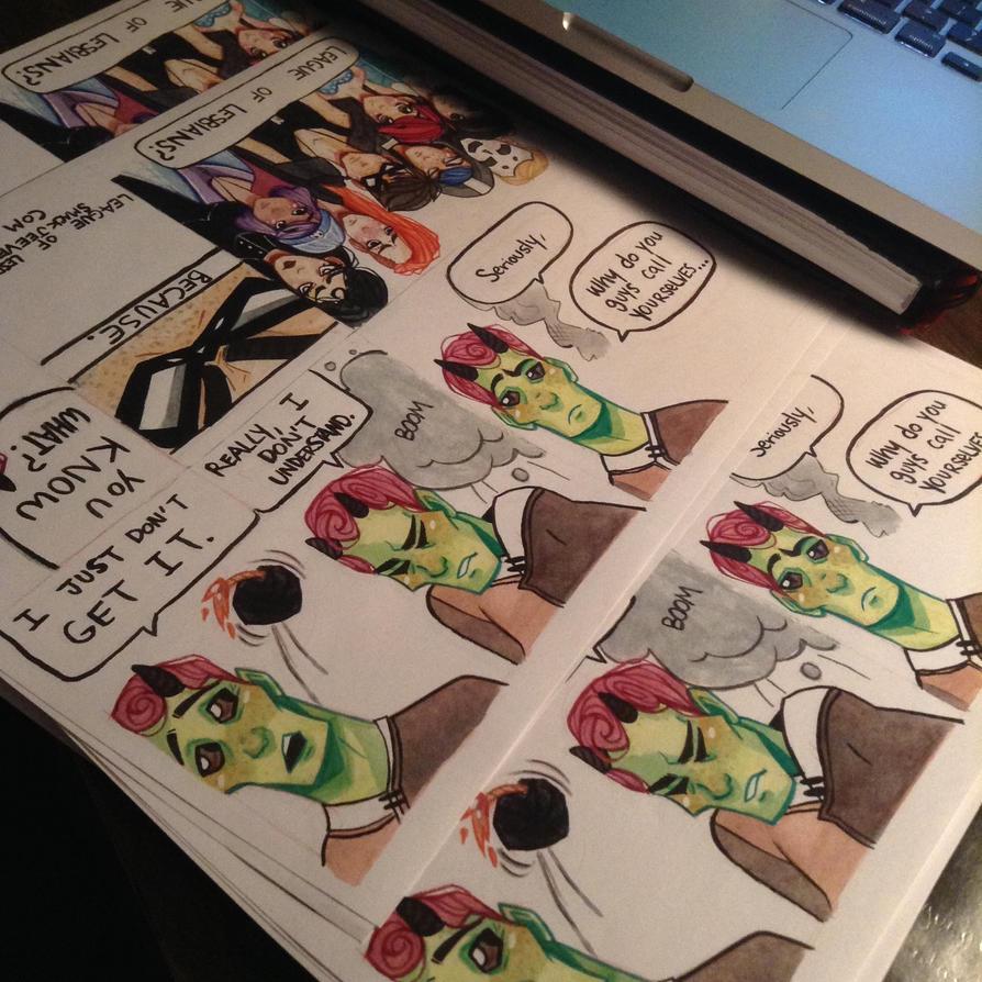 League of Lesbian Teaser prints by SwankyBird