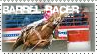 Barrel Racer - Stamp by horseytamer1