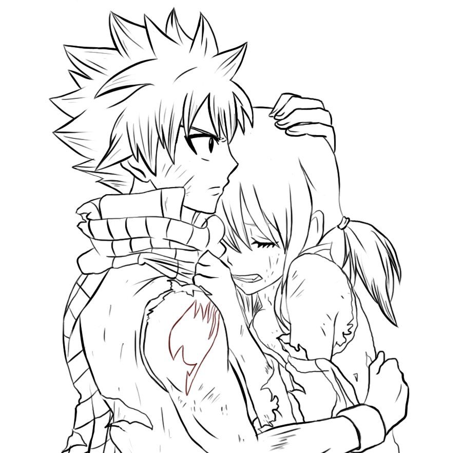 NatsuxLucy Fairy Tail Movie Lineart by AniManga-Artist99 ...