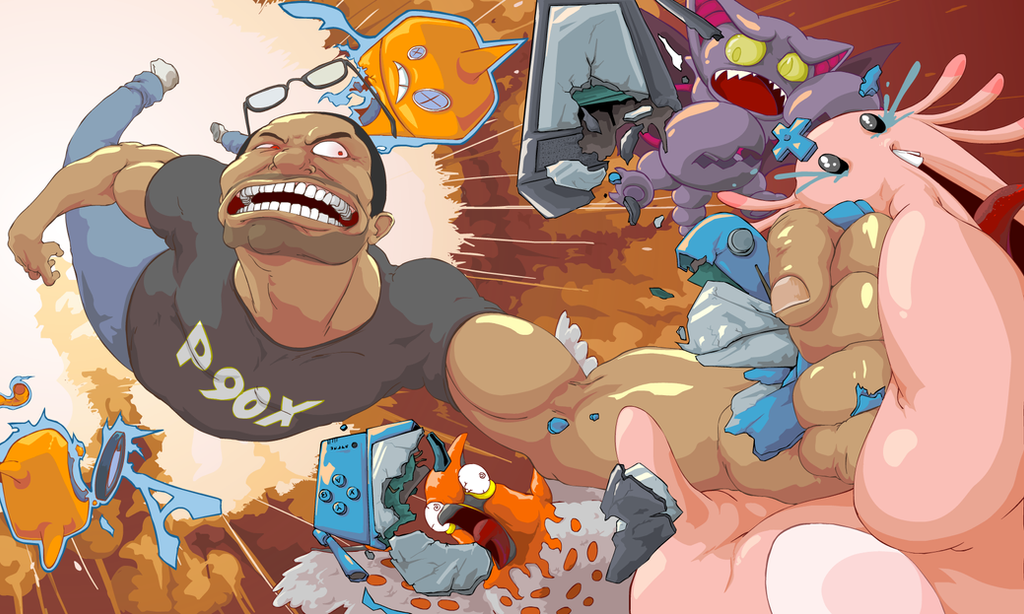 Mad Man Deemo Pokemon Battles by GreencardLove