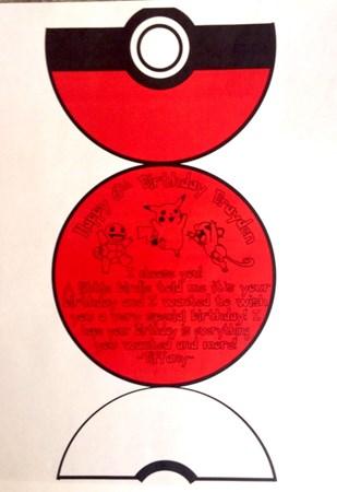 Poke Ball Birthday Card By Gordonfan024 On Deviantart