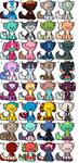 Lots of Cheap adoptables for sale! 5 points!! OPEN by asherthecrimsonfox