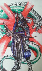 samurai scribble by chef1847