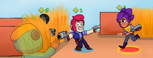 A second before... | Brawl Stars (for contest) by Lazuli177