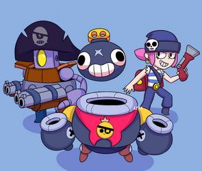 Pirate squad | Brawl Stars by Lazuli177