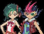 Yuma and Kotori by XBrain130
