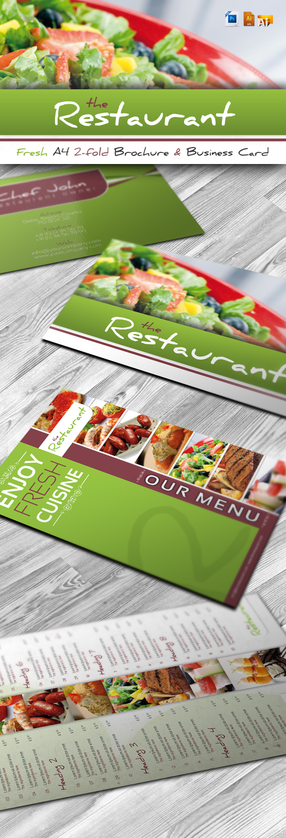 RW Fresh Restaurant Brochure by Reclameworks