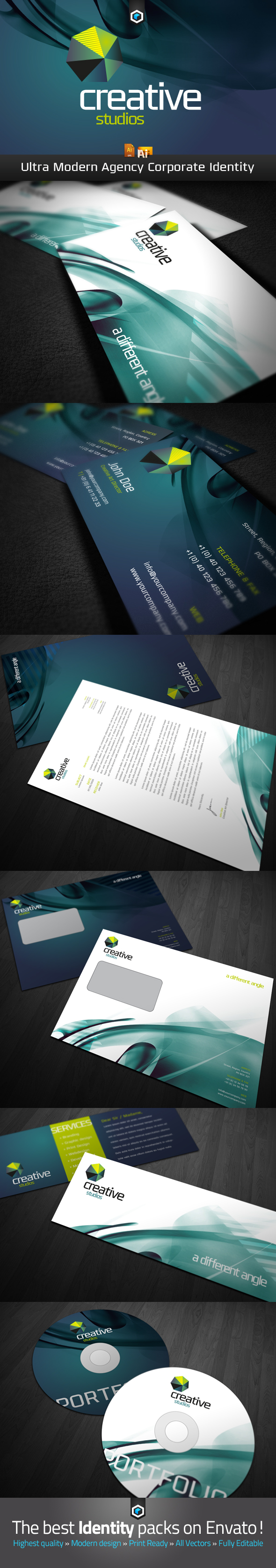 RW Modern Corporate Identity by Reclameworks