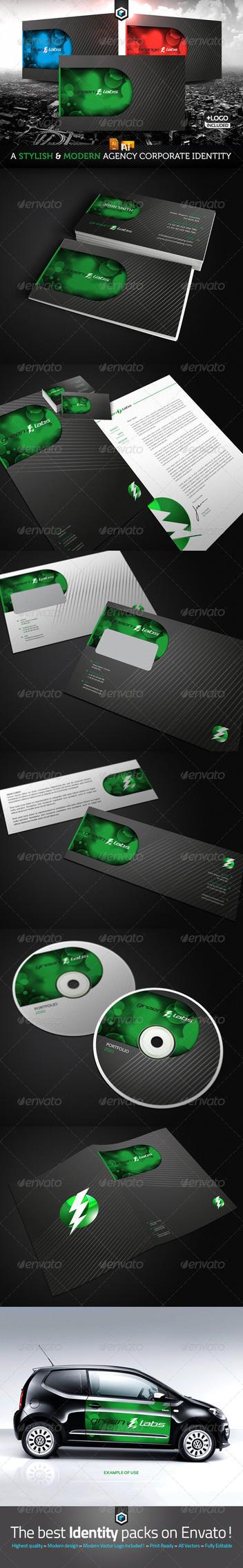 RW Lightning Agency Modern Corporate Identity by Reclameworks