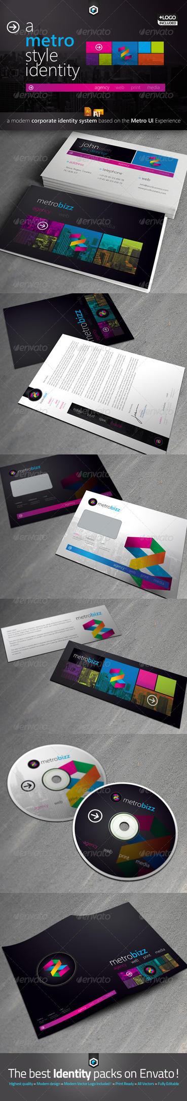 RW Metro UI Style Modern Corporate Identity by Reclameworks