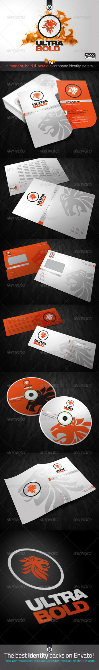 RW Modern Bold Heraldic Corporate Identity by Reclameworks