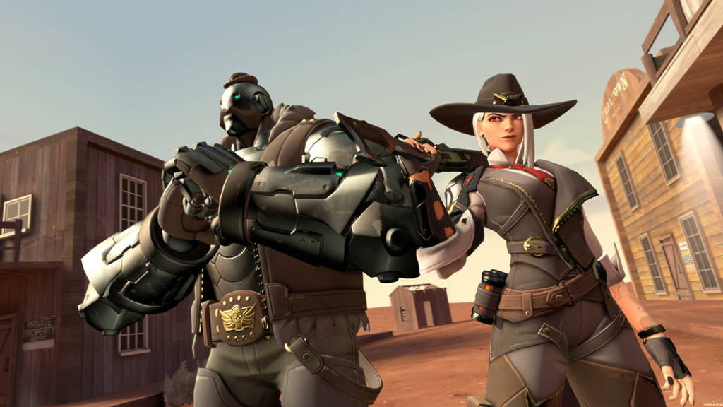 The Deadlock Gang: Ashe and BOB by 11819514113124