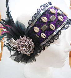 Black/Purple headdress by Sarcasm-hime