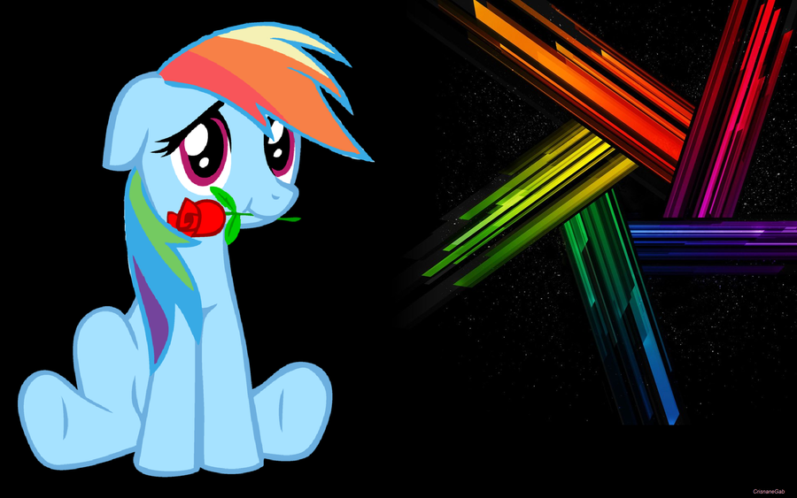 Rainbow Dash Loves You - WallPaper by Crisnanegab