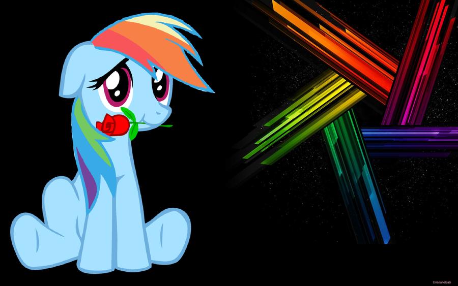 Rainbow Dash Loves You - WallPaper by Crisnanegab