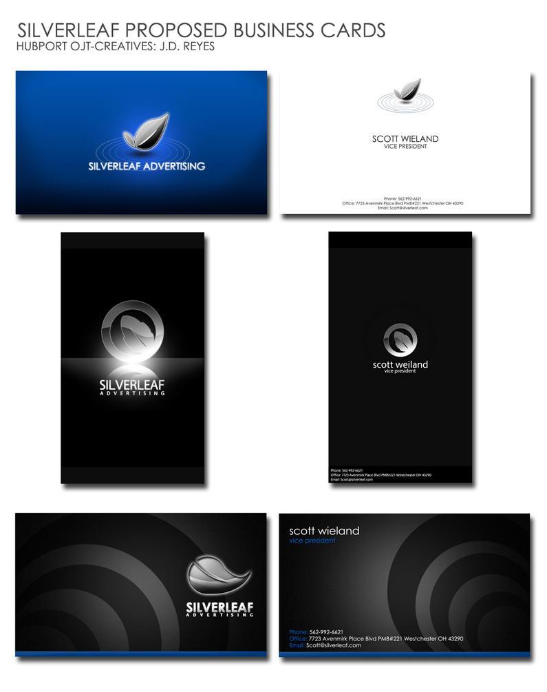 Ojt silverleaf business cards by jedskie on deviantart for Silverleaf login