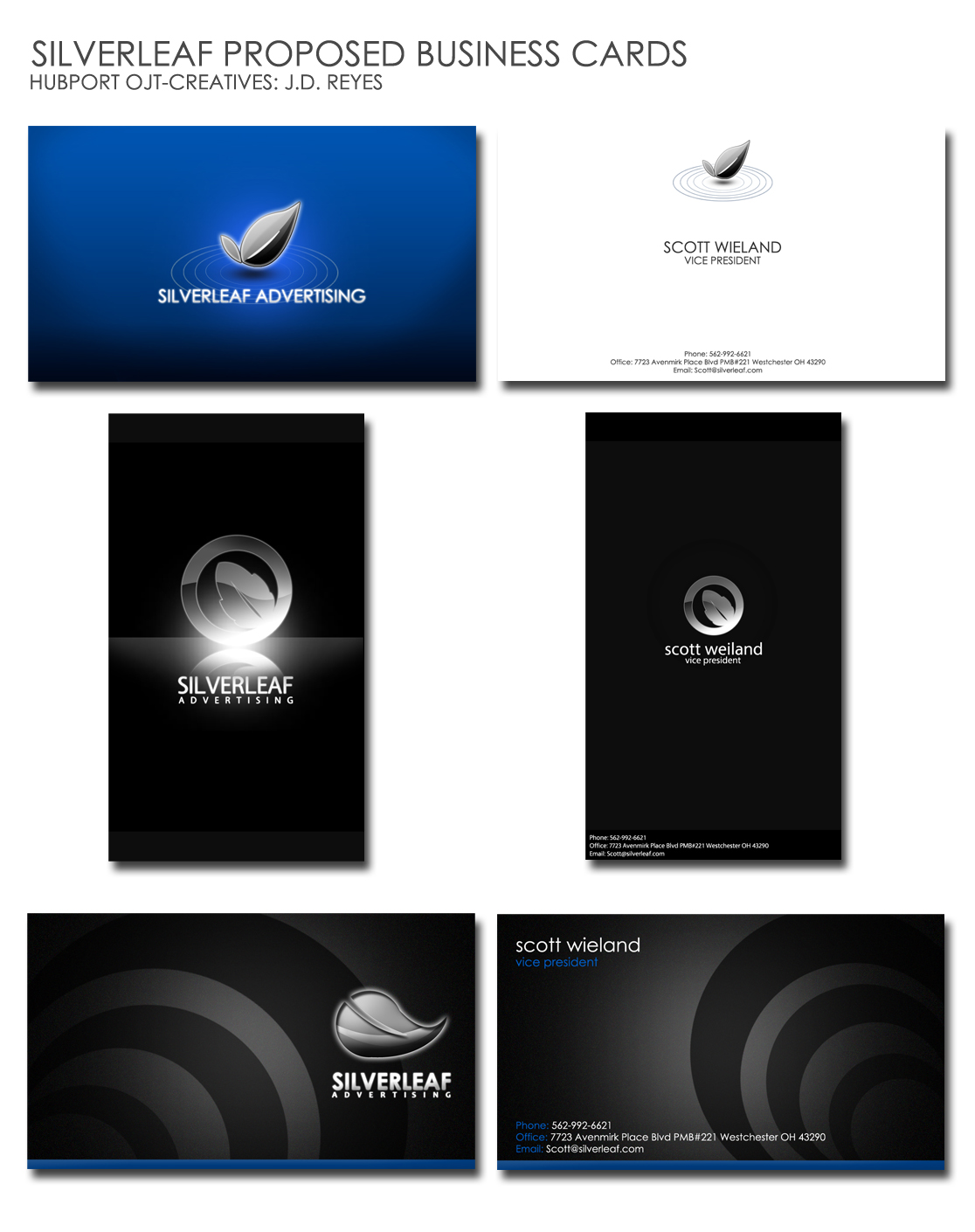 Ojt silverleaf business cards by jedskie on deviantart for Silverleaf owner login