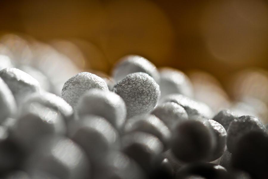 Styrofoam balls by LemanieCricket
