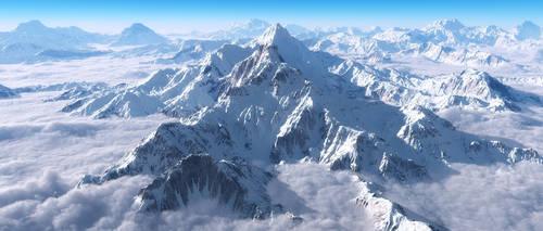snowy peaks by DpAndrell