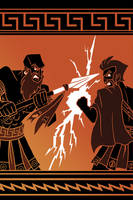 Zeus vs Iapetos by N-ZERO
